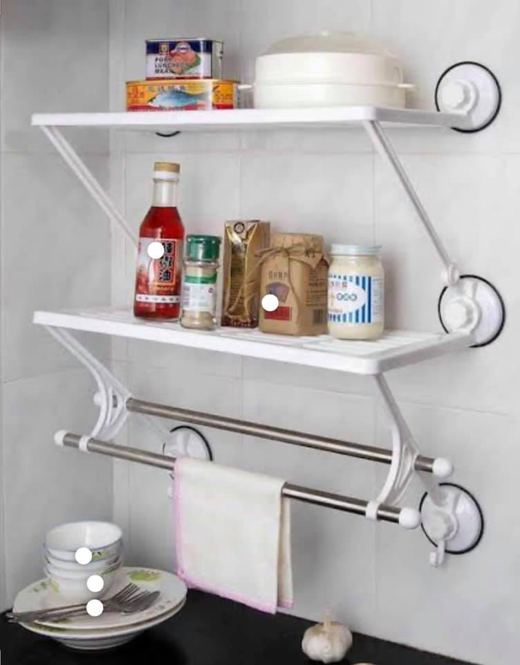 Double layer Wall Shelf- white