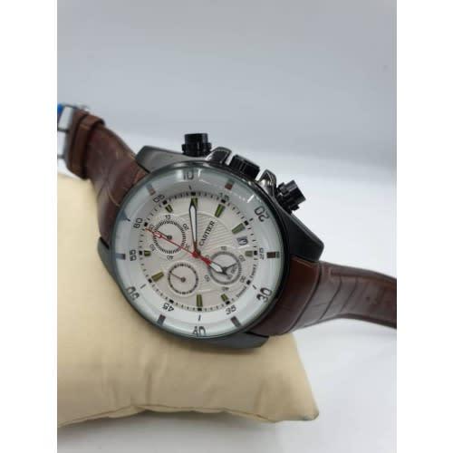 Cerruti Men's Luxurious White Dial Wrist Watch