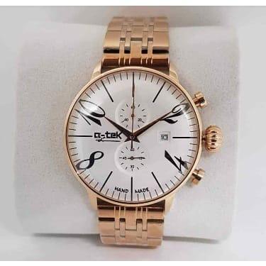 Private: Men's Q-tek Gold Chain Wrist Watch