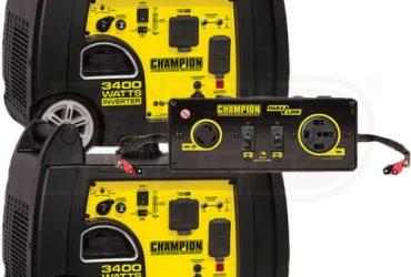 Champion 100233 – (2) 3100 Watt Inverter Generator w/ Parallel Cable Kit