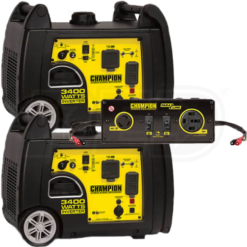 Champion 100233 – (2) 3100 Watt Inverter Generator w/ Parallel Cable Kit