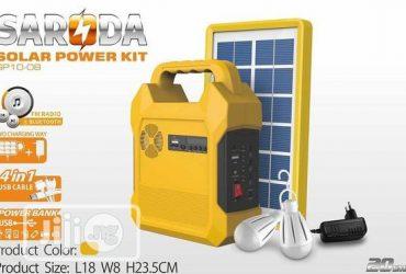 Saroda Solar Generator Kit USB Port And 3DC Jacks For Bulbs