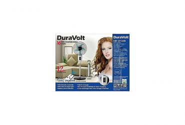 "DURAVOLT 16"" RECHARGEABLE FAN WITH REMOTE"