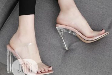 Transparent High Slippers