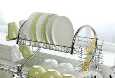 Stainless Steel Plate and Utensils Racks