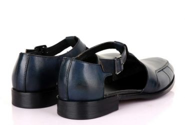 Billionaire Exotic Blue Cover Leather Sandal