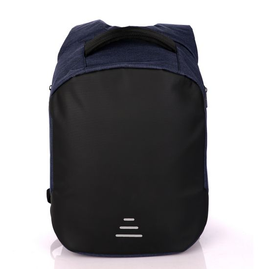 t- Blue Business Travel Backpack Laptop Briefcase With USB Charging And Auxiliary port- Blue