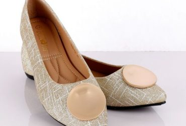 Fashionable Classic Champagne Gold Women's Flat Shoe