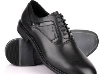 Salvatore Ferragamo Black Leather Oxford Shoe