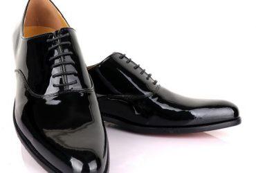John Mendson Black Wetlips Derby Lace up Loafers