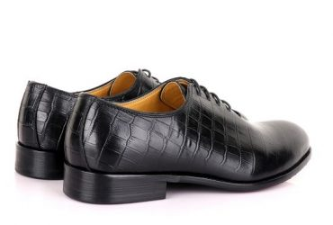 John Mendson Oxford Croc Lace up Leather Shoe