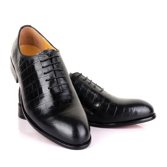 John Mendson Oxford Croc Lace up Leather Shoe