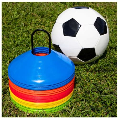 Pro Disc Cones (set Of 50) – Agility Soccer Cones With Carry Bag And Holder For Training