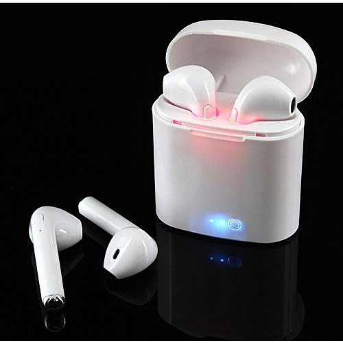 I7s Tws Wireless Bluetooth Earpiece With Charging Box – White