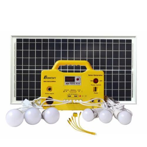 BOSCON 1220W – 20W DC Solar Generator With FM Radio