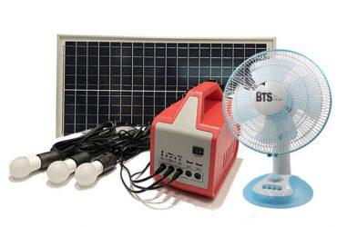 Solar Home Lighting System 030w+ Ac Adapter + Fan + FM Radio