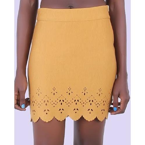Must Have Mustard Mini Skirt