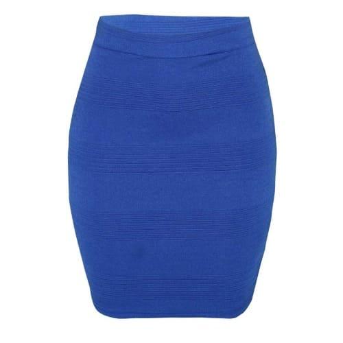 Blue Bodycon Bandage Skirt