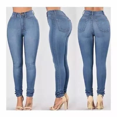 Ladies Stretch Denim Skinny Jeans – Blue
