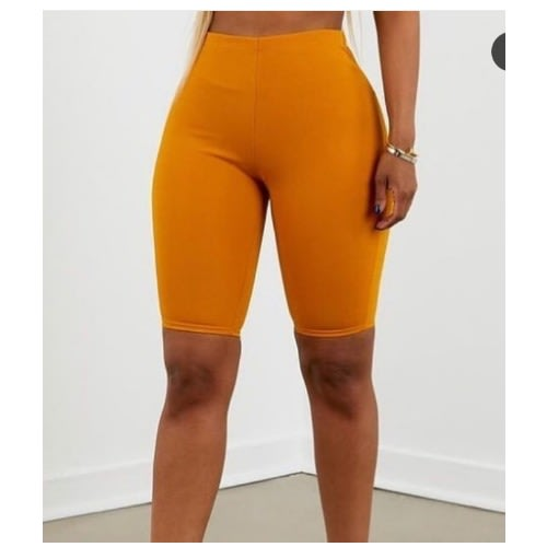 Women's Biker Shorts – Yellow