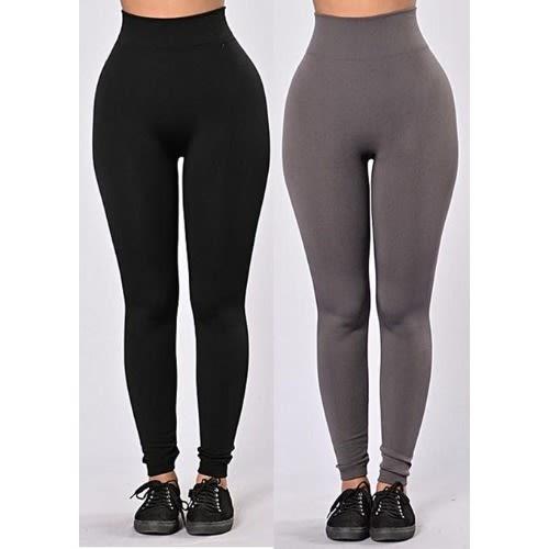 Waist Slimming Leggings – Black & Grey