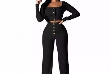 Ladies' 2-Piece Set – Black