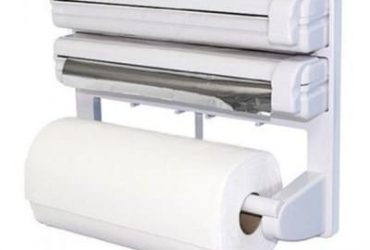 Universal Chef Triple Paper Dispenser Cling Film Wrap Aluminium Foil Kitchen Roll Holder
