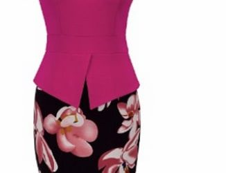 Nice Forever Women's Business Print Floral Dress – Pink