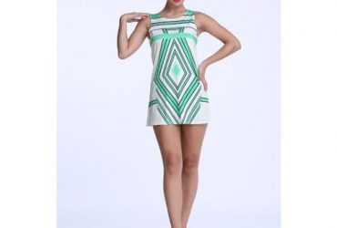 Women's Digital Print 3D Summer Dress -Green