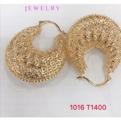 Real Gold Plated Hoop Earrings.