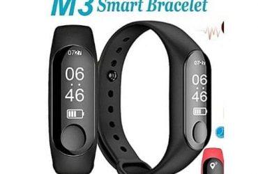 M3 Smart Bracelet Fitness Tracker Heart Rate Monitor Waterproof Bracelet Band