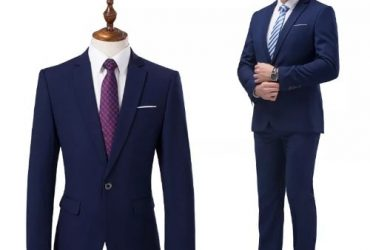 2 Piece Suit (jacket+pants) Navy Blue Men Wedding Suit -Male Blazers Slim Fit Suits For Men