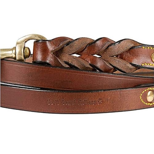 Soft Touch Collars – Pure Leather Braided Dog Leash 72bl-br (6 Ft X 3/4 Inch)