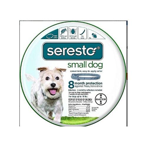 Bayer's Contour Seresto 8 Month Flea & Tick Prevention Collar For Small Dogs