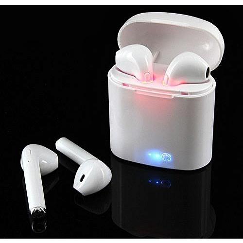 Genera I7s Tws Wireless Bluetooth Earpiece With Charging Box – White