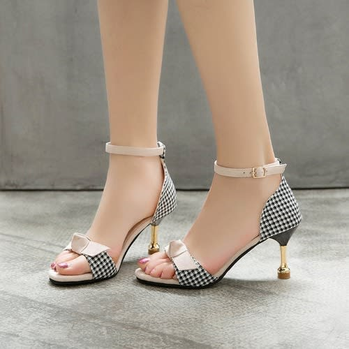 Fashion Queen Ankle-strap Heeled Sandal – Brown