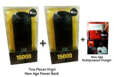 New Age 15000mah Power Bank – 2pieces Plus One Free New Age Multipurpose Charger