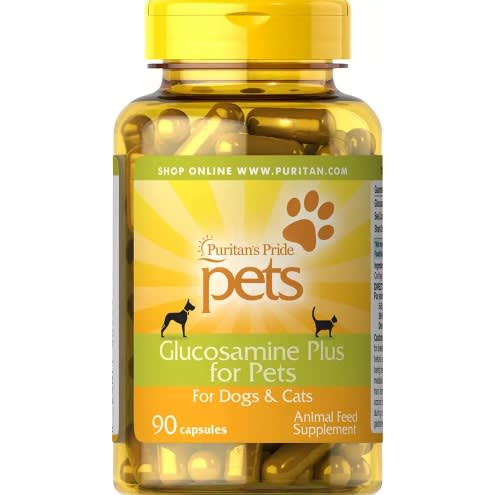Puritan's Pride Pets Glucosamine Plus For Dogs & Cats By 90 Capsules