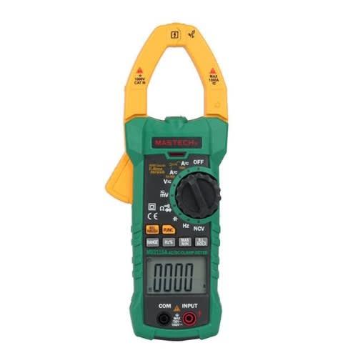 Mastech True Rms Ac/dc Digital Clamp Meter W/ Ncv – Ms2115a