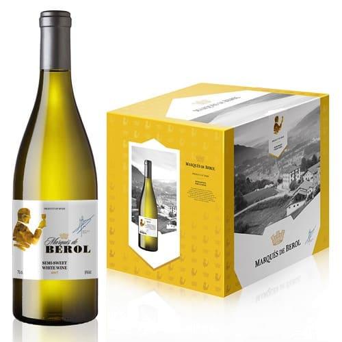 Marques De Berol Semi-Sweet 2018 – White Wine – 750ml x 12 Bottles