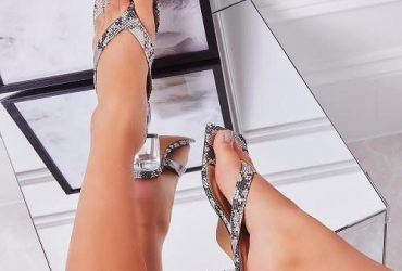 Fashion Woman Ladies Block Heel Slippers-multicolor