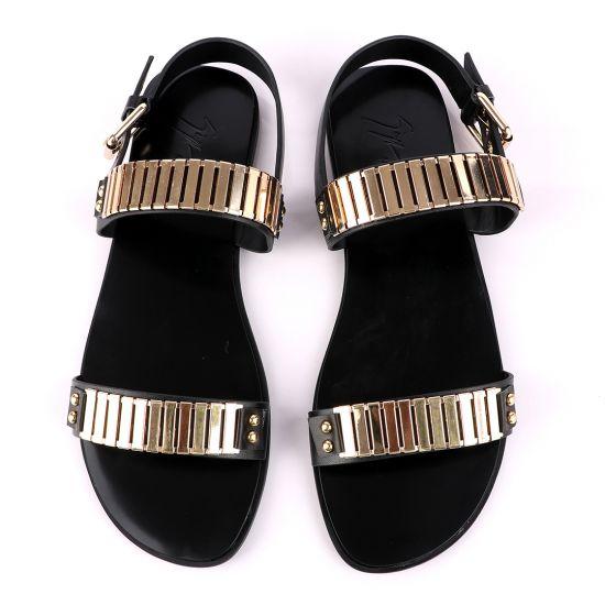 Giuseppe Zanotti Gold Figaro Double Strap Sandals