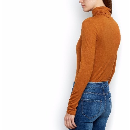 New Look Turtle Neck Long Sleeve Top – Tan