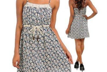 Floral Thin Strap Dress