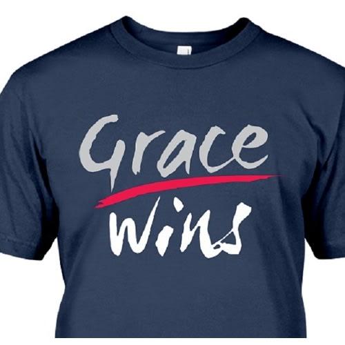 Pwwear Grace Wins Print T-shirt – Blue