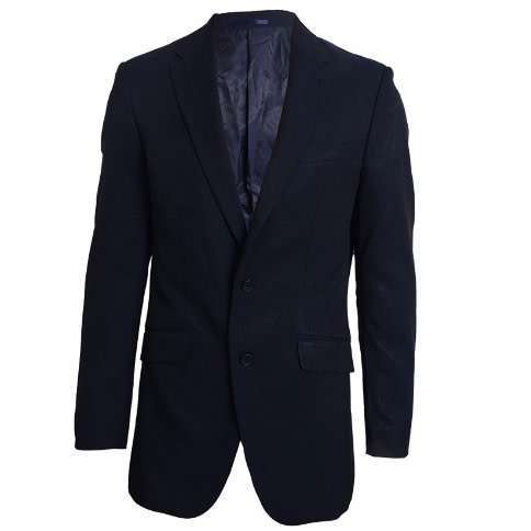 Taylor & Wright 2 Button Slim Fit Pinstripe Jacket – Navy Blue