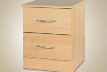 2 Drawer Bedside Wooden Storage Cabinet