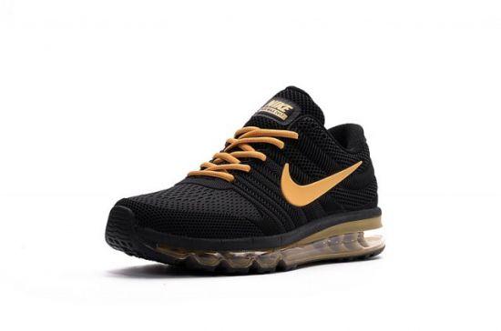 N A M 2017 KPU Black Gold Men's Running Shoes