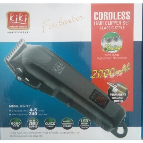 Kiki Rechargeable Clipper – 2000mah Lithium Battery