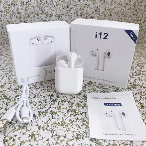 i12 Tws Wireless Bluetooth 5.0 Earbuds – White